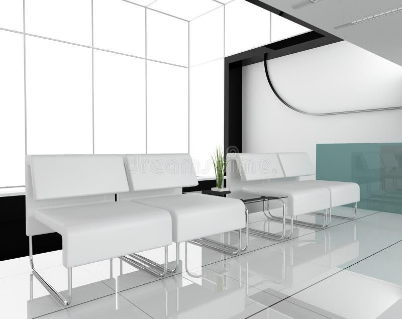 Mobilia all'ufficio bianco illustrazione di stock