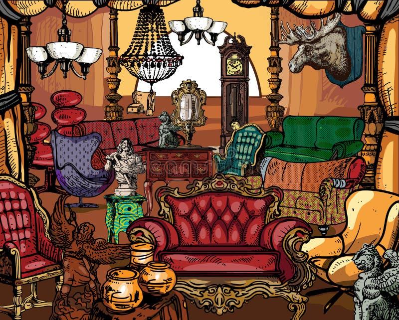 Mobilia antica illustrazione vettoriale illustrazione di for Mobilia download