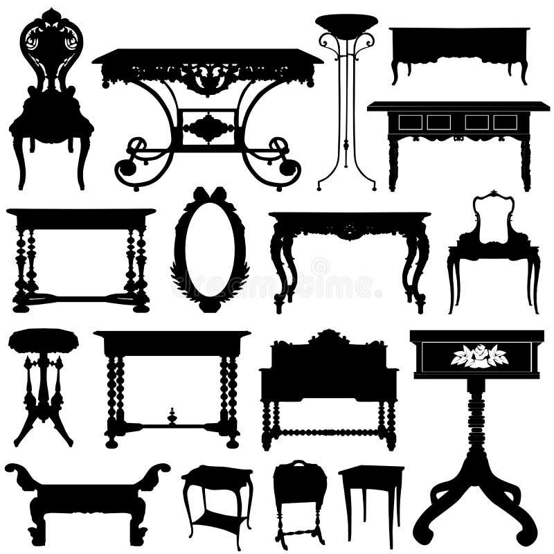 Mobilia antica illustrazione di stock