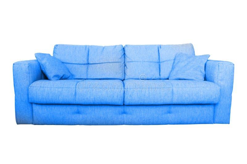 Mobilia blu moderna dello strato o del sofà immagini stock libere da diritti