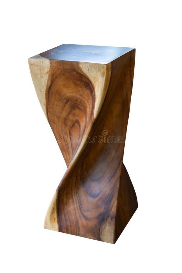 Mobilia, ceppo di legno, ceppodi isolato su fondo bianco dell'archivio con il percorso di ritaglio fotografie stock