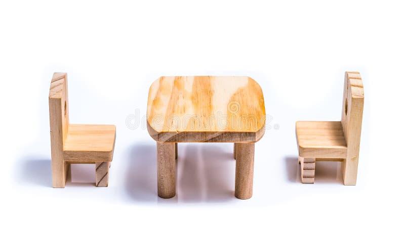 Mobilia del giocattolo delle sedie e della Tabella fotografie stock