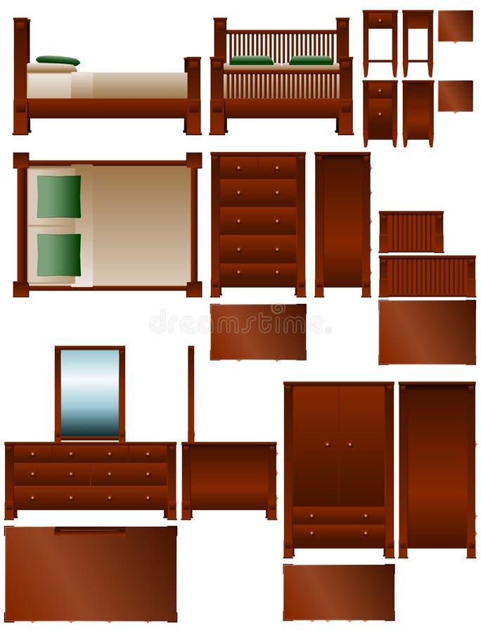Mobilia della camera da letto illustrazione di stock