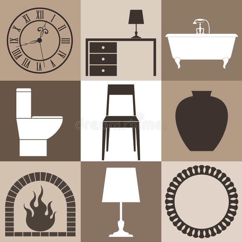 Mobilia insieme illustrazione vettoriale illustrazione for Mobilia download