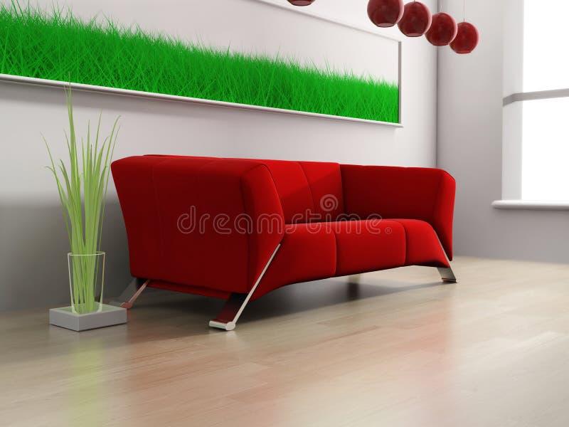 Mobilia rossa illustrazione di stock