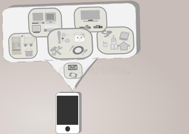 Mobilidade e interconexão ilustração royalty free