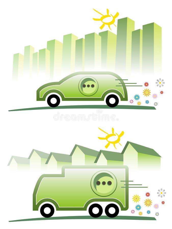 Mobilidade elétrica ilustração royalty free