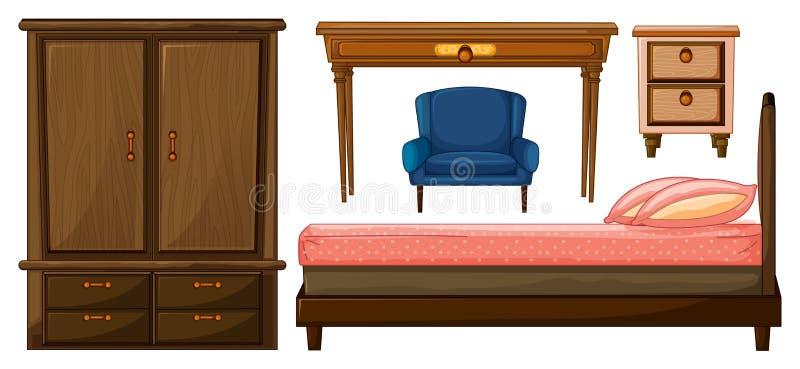 Mobilie della camera da letto illustrazione vettoriale