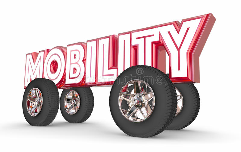 Mobility Future Car Transportation Vehilce Ride Share vector illustration