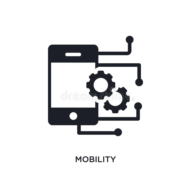 Mobility isolated icon. simple element illustration from smart home concept icons. mobility editable logo sign symbol design on. White background. can be use stock illustration