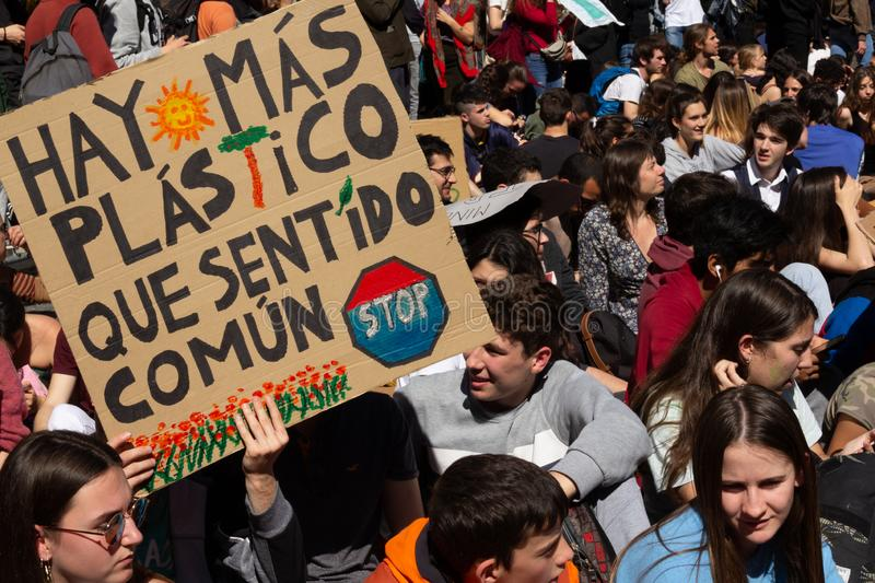 Mobilization for Climate Change. March 15 2019 stock photography