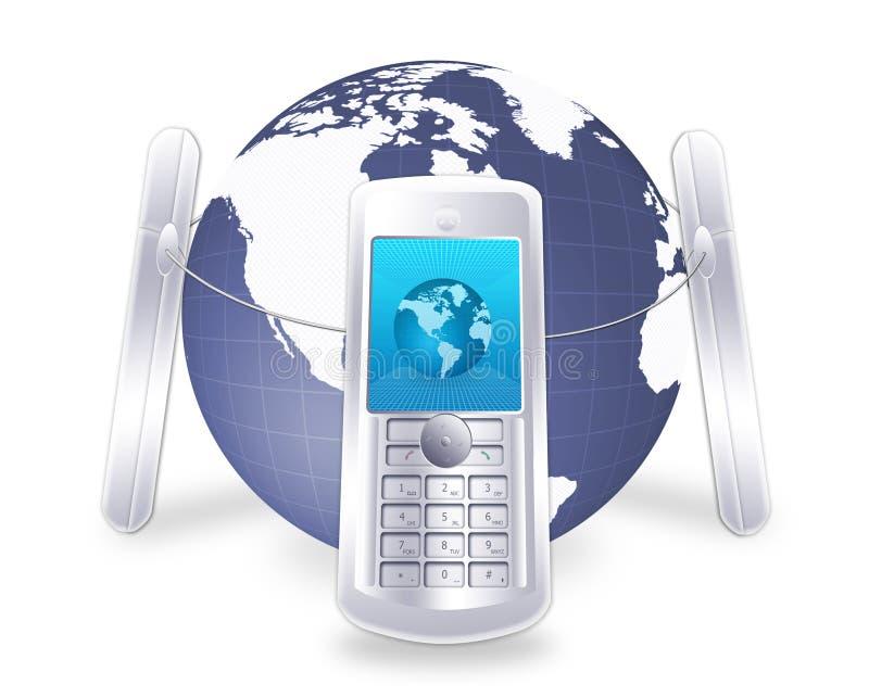 Mobilkommunikation lizenzfreie abbildung