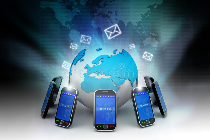 Mobilkommunikation stock abbildung