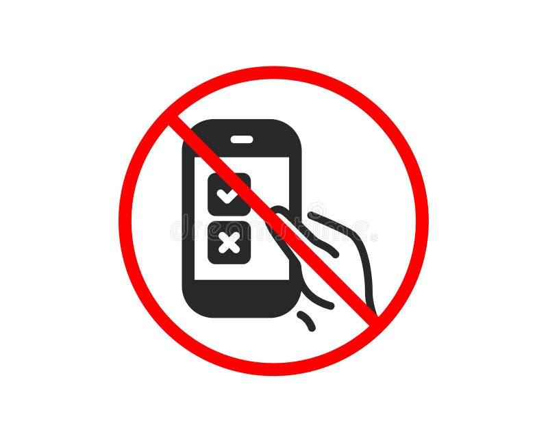 Mobilna ankiety ikona Wybrany odpowied? znak wektor royalty ilustracja