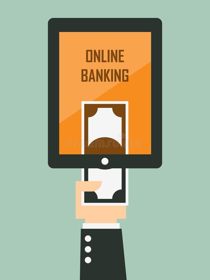 Mobilna bankowość ilustracja wektor