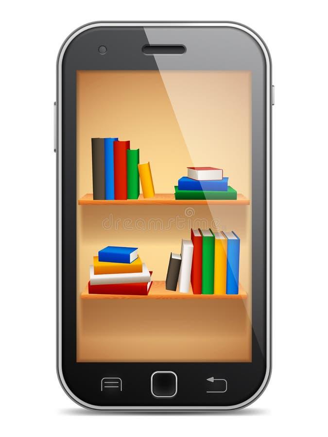 Mobilna biblioteka royalty ilustracja