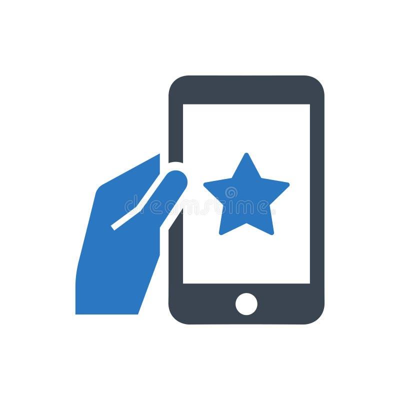 Mobilna bookmark ikona ilustracji