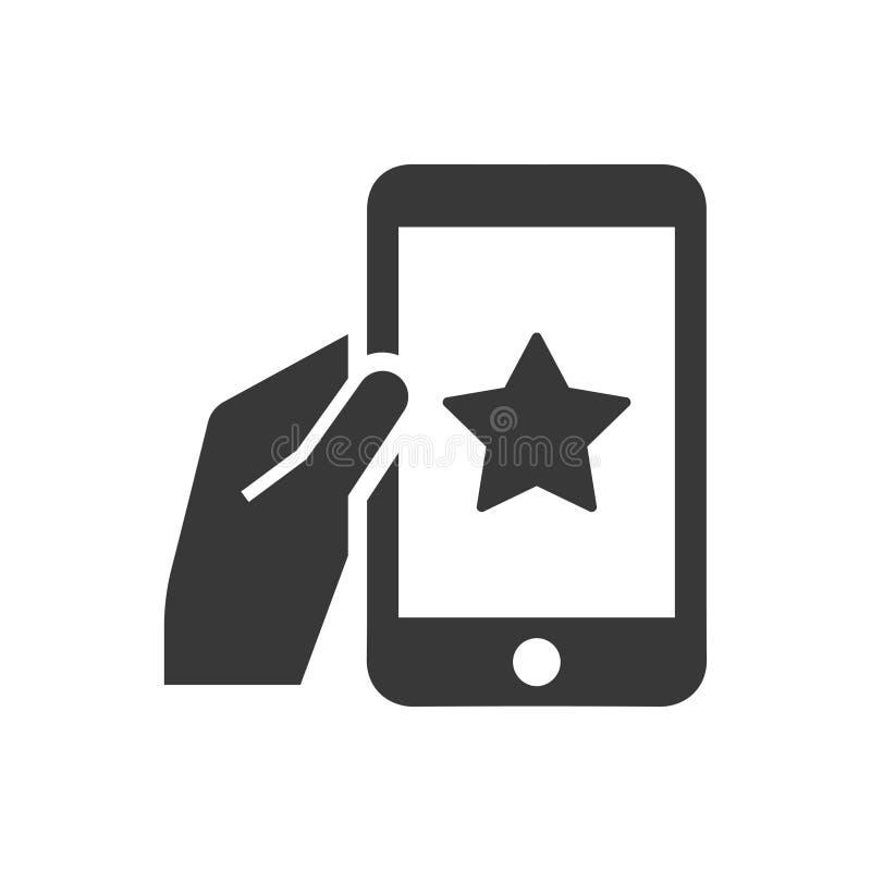 Mobilna bookmark ikona ilustracja wektor
