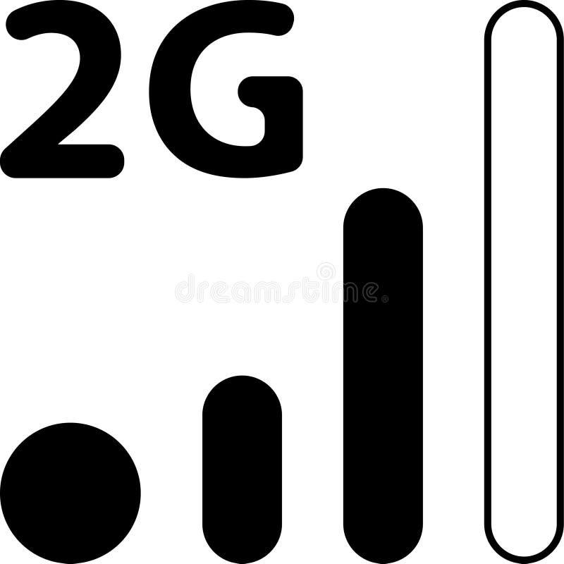 Mobilna Mądrze telefonu 2G sieci wektoru ikona ilustracji