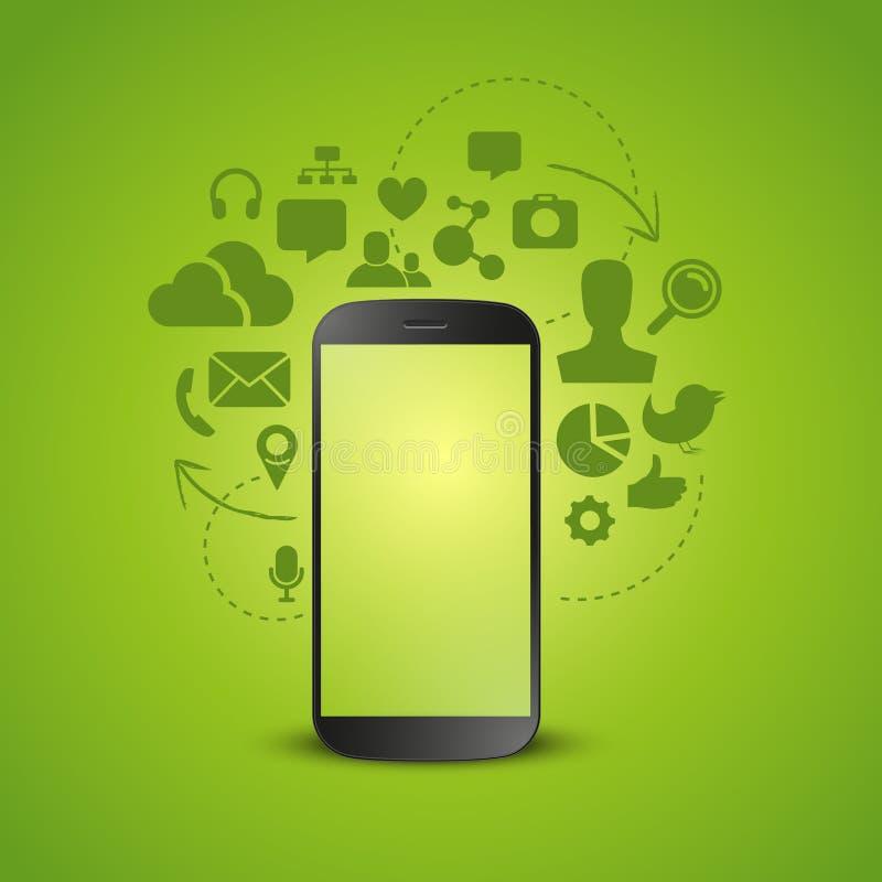 Mobilna produktywność ilustracja wektor
