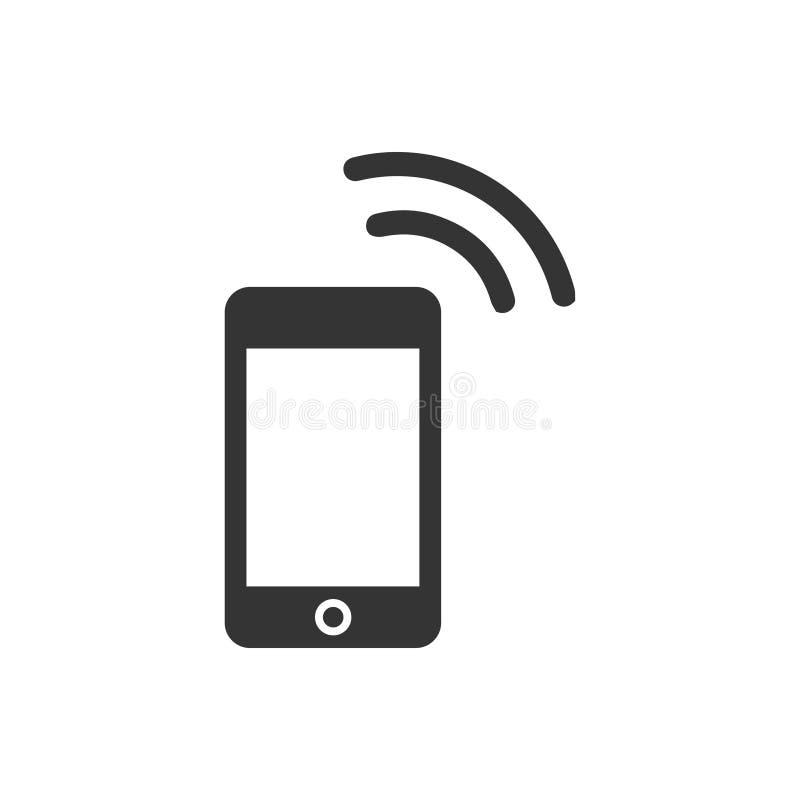 Mobilna punkt zapalny ikona ilustracja wektor