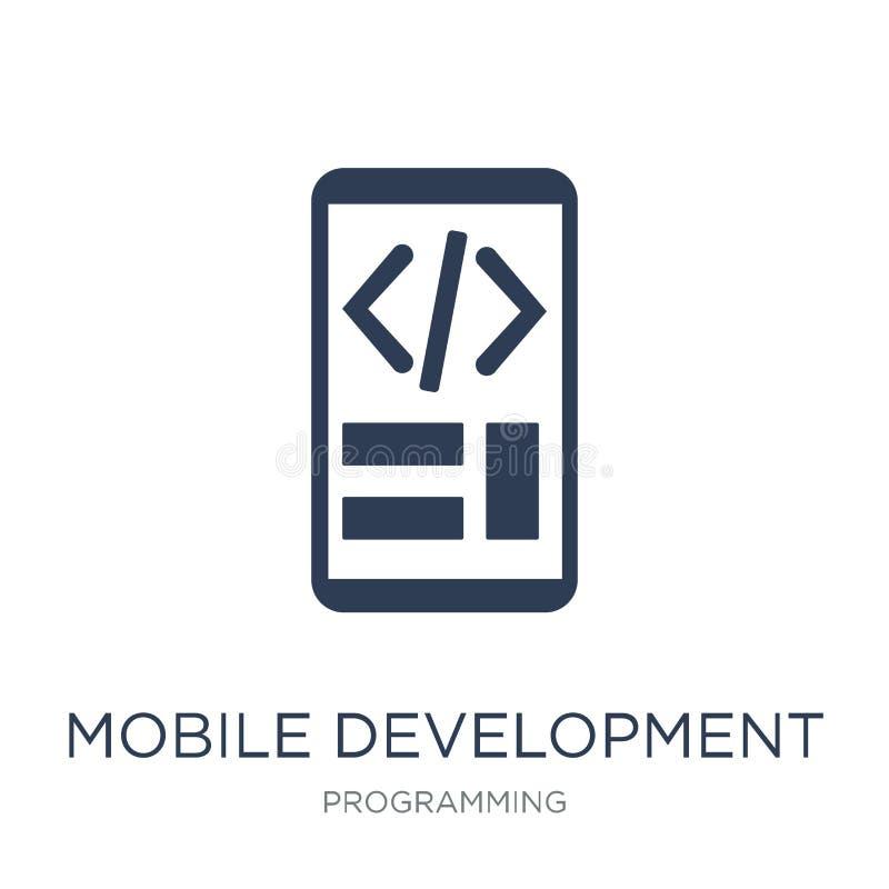 Mobilna rozwój ikona Modny płaski wektorowy Mobilny rozwój ja royalty ilustracja