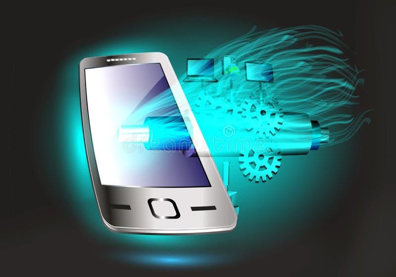Mobilna technologia i SOA, ESB technologia royalty ilustracja