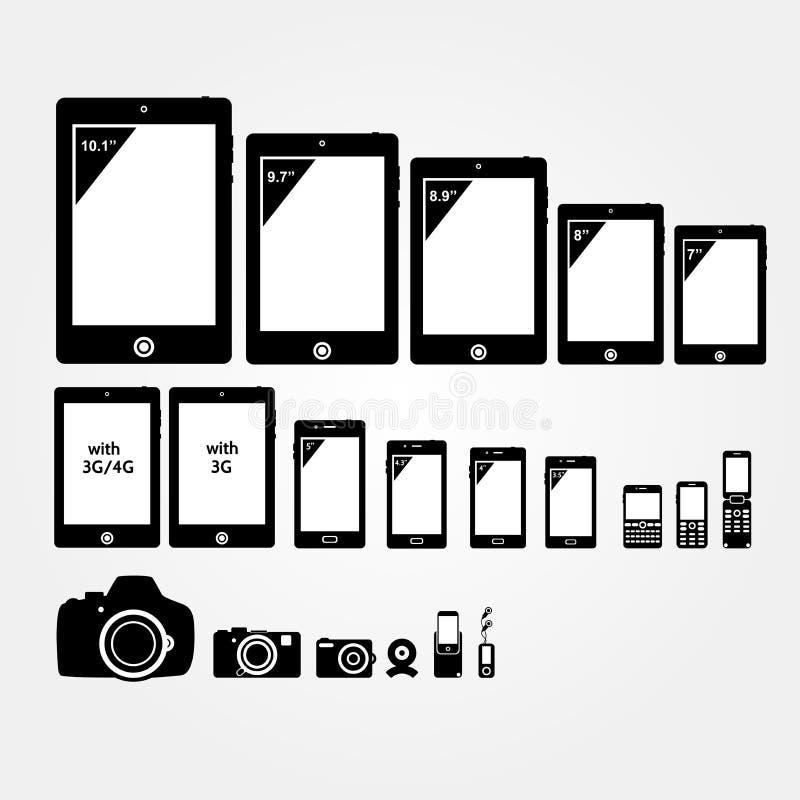 Mobilne elektronika ilustracja wektor