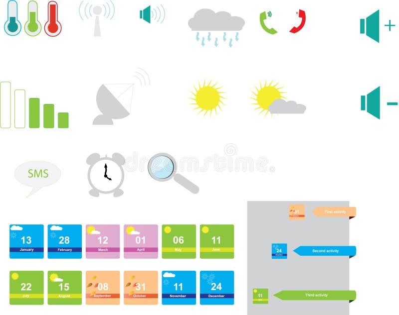 Mobilne ikony ustawiać ilustracji