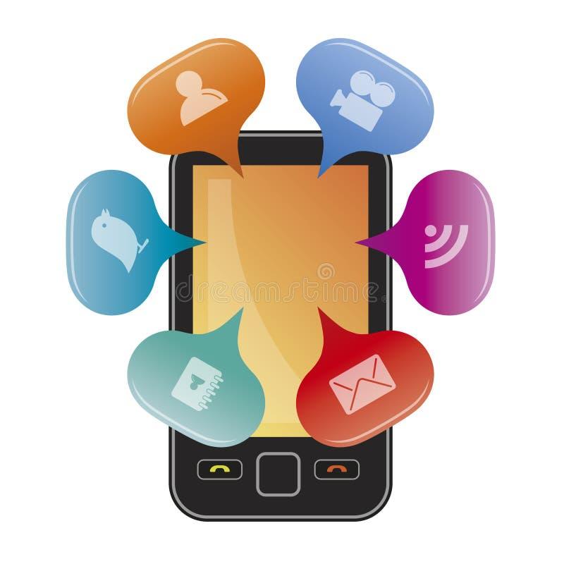 mobilne podaniowe ikony ilustracja wektor