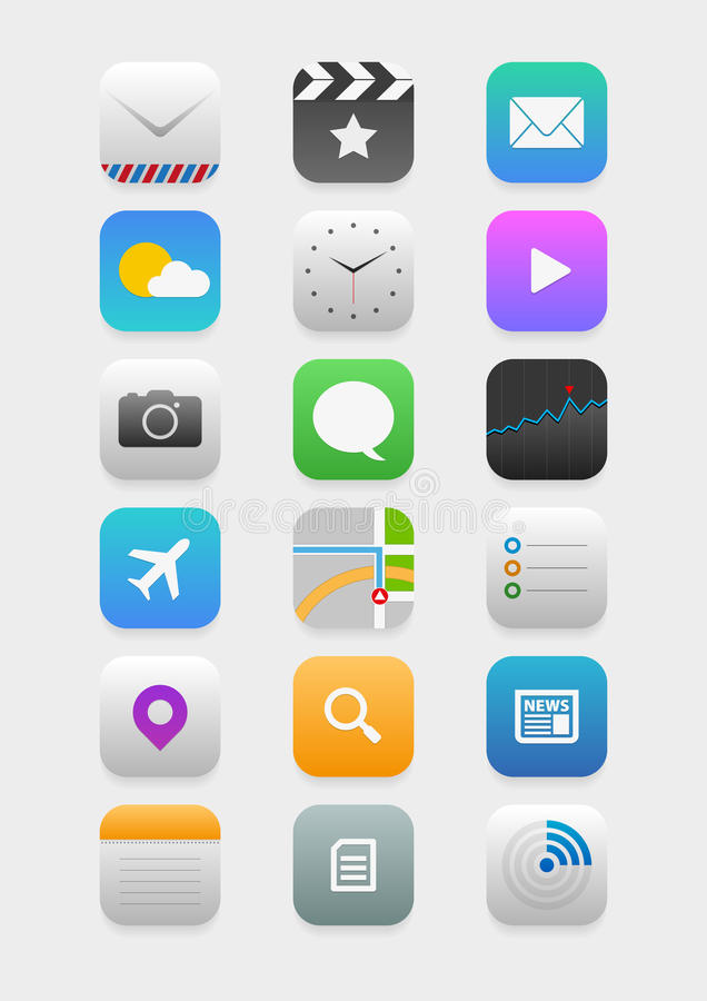 Mobilne podaniowe ikony