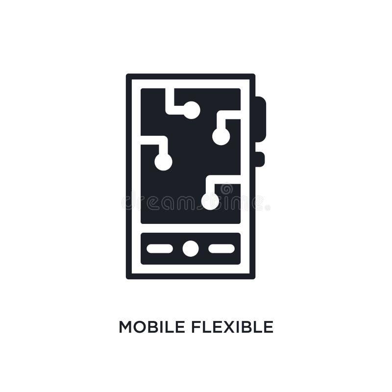mobilnego elastycznego pokazu odosobniona ikona prosta element ilustracja od sztucznych intellegence pojęcia ikon wisząca ozdoba  ilustracja wektor