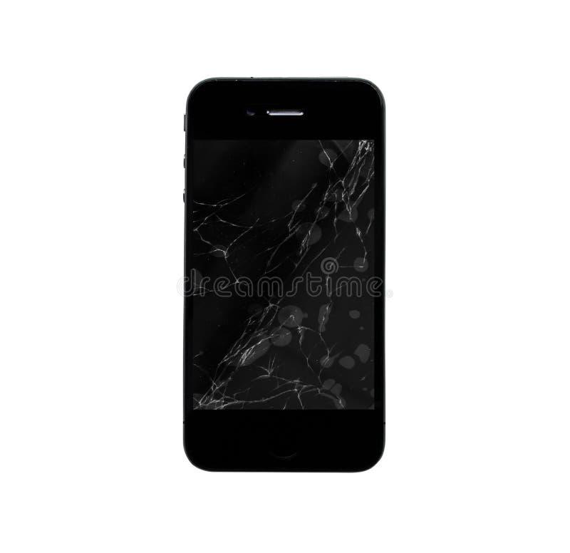 Mobilni ekrany odizolowywają na białym tle royalty ilustracja