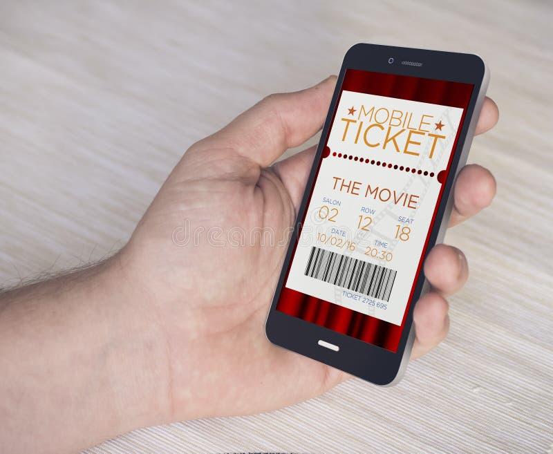 Mobilni kinowi bilety obrazy stock