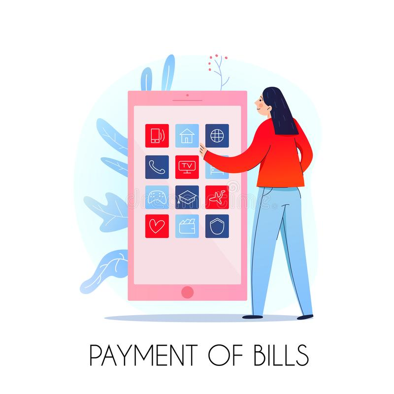 Mobilny bankowość skład royalty ilustracja