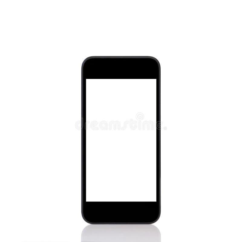 Mobilny dotyka telefon z odosobnionym ekranem obraz stock