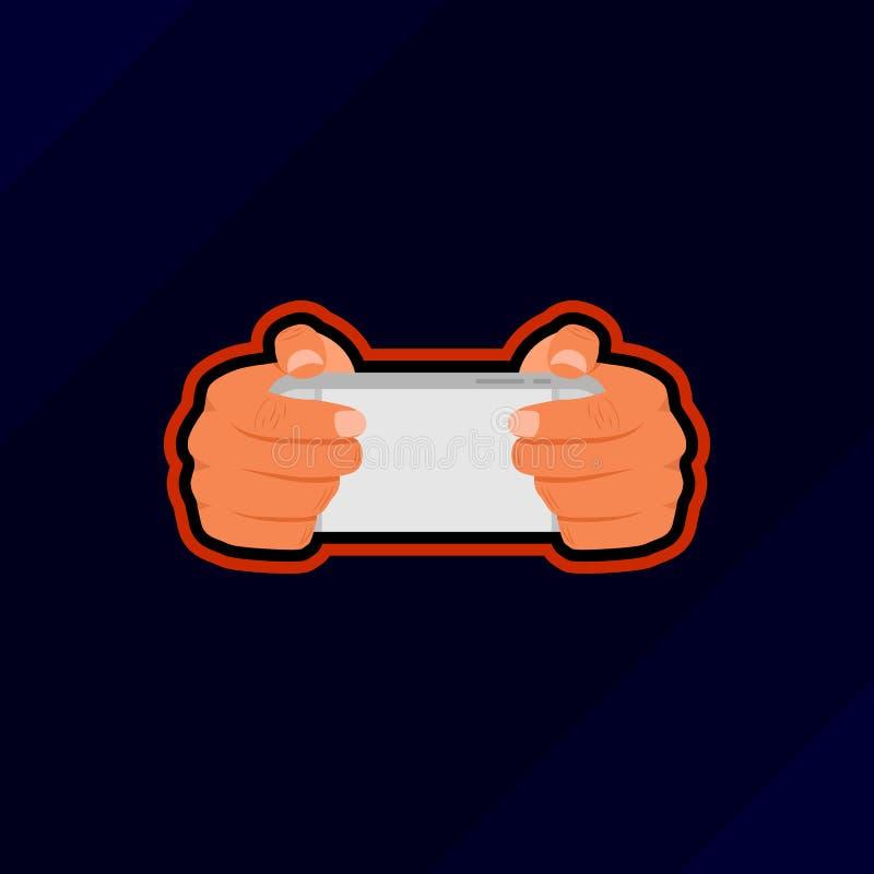 Mobilny hazardu esport logo ilustracja wektor