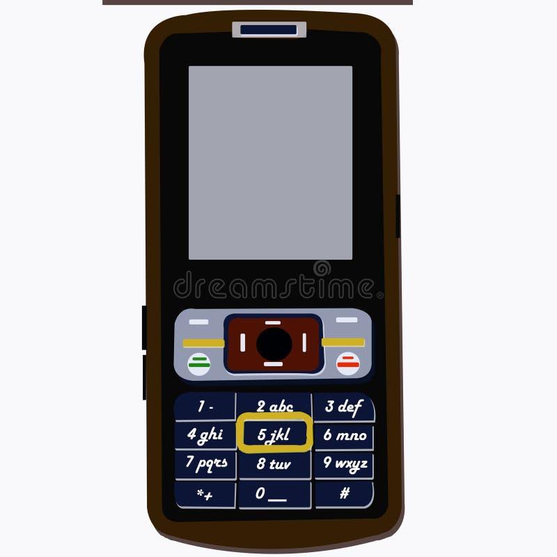 Mobilny ilustraci legendy handphone obraz royalty free