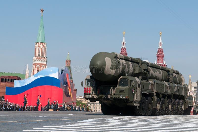 Mobilny jądrowy międzykontynentalny pocisk balistyczny Topol-M fotografia stock