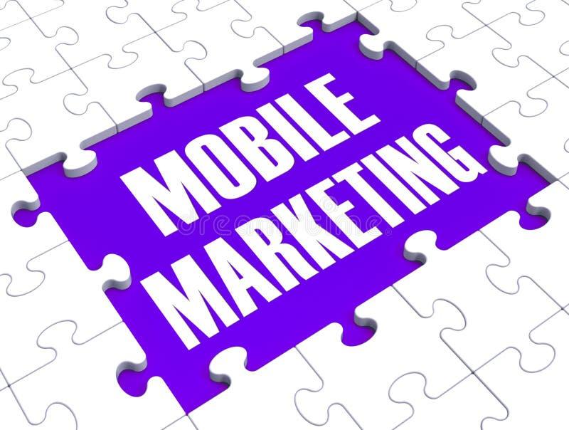 Mobilny marketing Pokazuje Online handel ilustracji