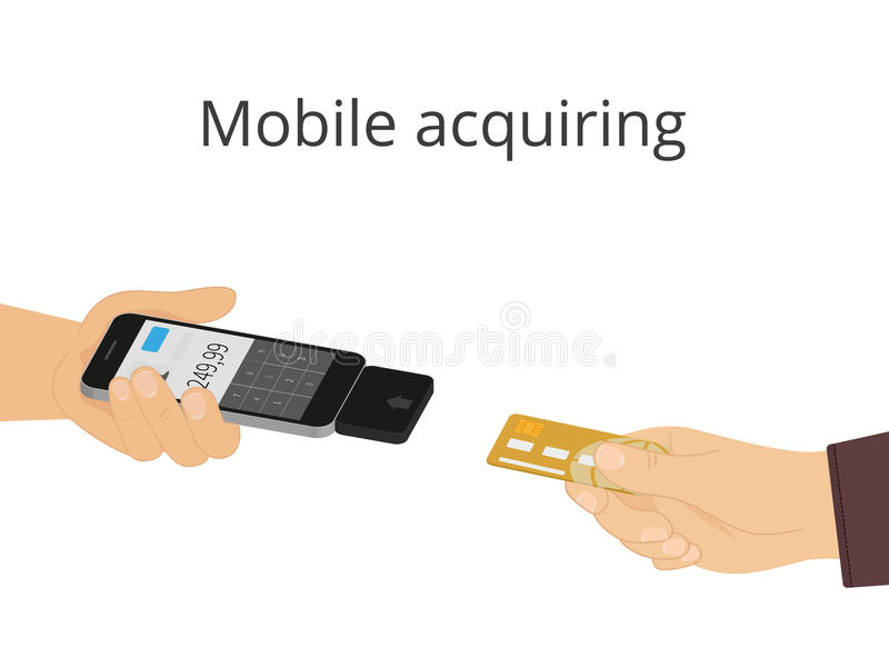 Mobilny nabywanie ilustracji