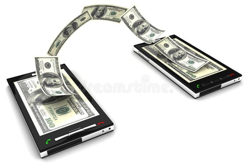 mobilny płatniczy telefon ilustracji