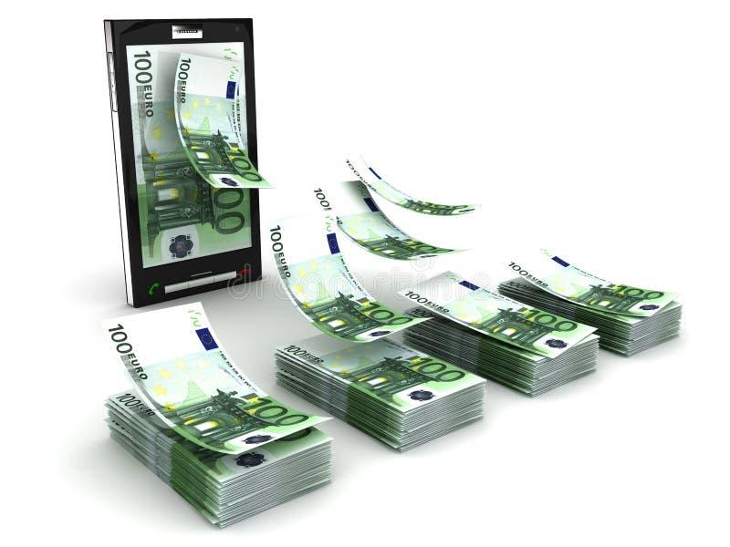 mobilny płatniczy telefon ilustracja wektor