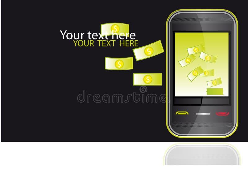 mobilny pieniądze ilustracji