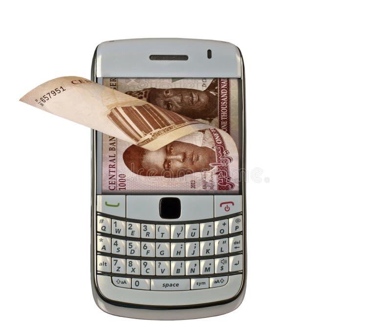 Mobilny pieniądze zdjęcia royalty free