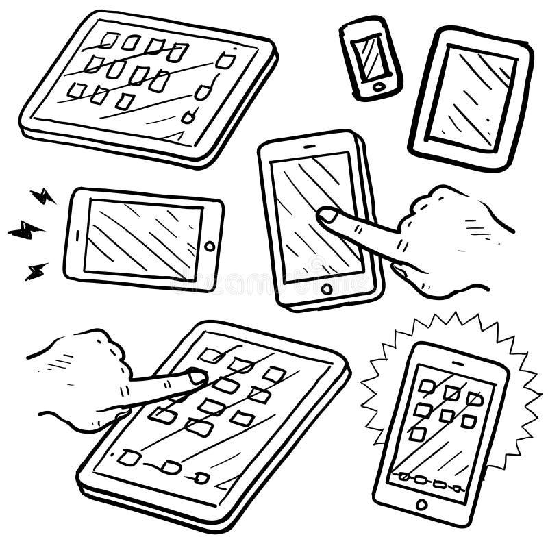 mobilny przyrządu nakreślenie