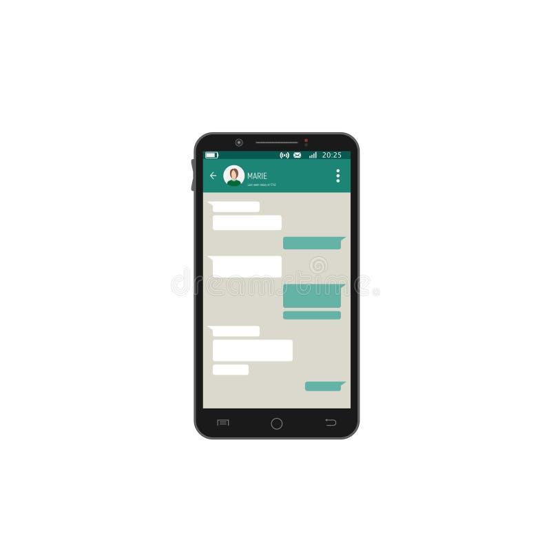 Mobilny smartphone app opowiadać royalty ilustracja