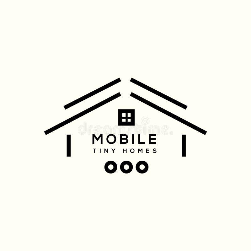 Mobilny stwarza ognisko domowe wektorowego loga ilustracja wektor