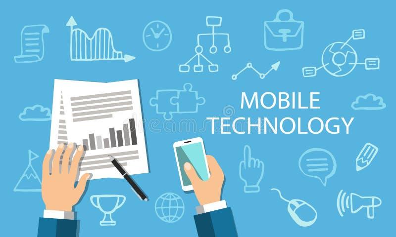 Mobilny technologii pojęcie royalty ilustracja