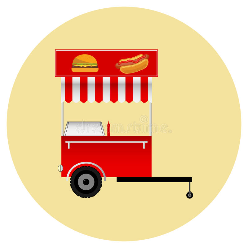 Mobilny tramwaju fast food royalty ilustracja
